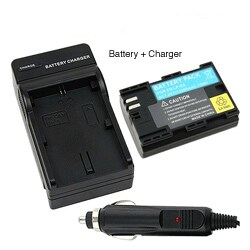 INSTEN Compatible Li-ion Battery/ Compact Battery Charger Set for Canon LP-E6