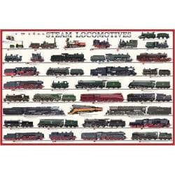 Eurographics Inc 1000-piece Steam Locomotives Puzzle
