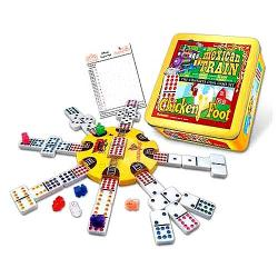 Mexican Train and Chickenfoot Dominoes: The Complete Dual Game Set 7499441