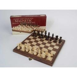 Travel Magnetic Walnut Chess Set