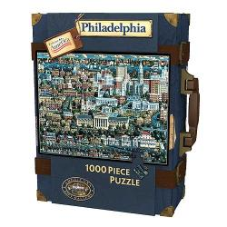 Explore America 1,000-pc Philadelphia Suitcase Puzzle