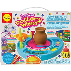 Deluxe Six-paint Air-drying Clay Pottery Wheel with AC Adapter (As Is Item)