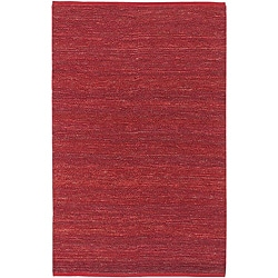 Hand-woven Cottage Red Natural Fiber Jute Rug (2' x 3')
