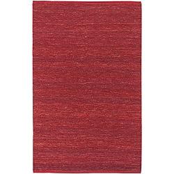 Hand-woven Cottage Red Natural Fiber Jute Rug (2' x 3')