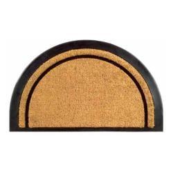 York Half Round Coir Stripe Door Mat (20 x 32)