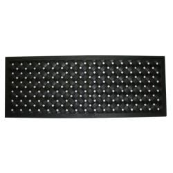 Black Rubber Braided Door Mat (18 x 47)