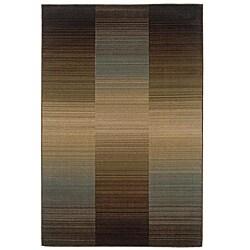 Brown Stripe Rug (5' x 7'6)
