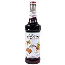 Monin 750-ml Chocolate Swiss Syrup (Pack of 12)