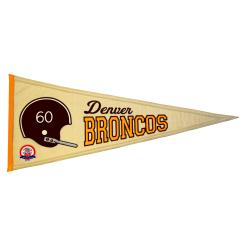 Denver Broncos AFL Throwback Wool Pennant 7534173