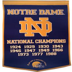 Notre Dame Fighting Irish NCAA Football Dynasty Banner 7534235