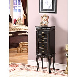 Morris 6-Drawer Shabby Chic Jewelry Armoire