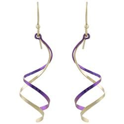 Goldfill, Alloy and Niobium Double Spiral Earrings