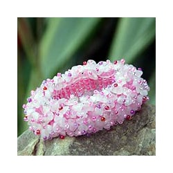 'Perfect in Pink' Rose Quartz Stretch Bracelet (Thailand)