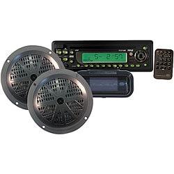 Pyle Waterproof Marine CD/MP3 Player Receiver/ Speaker/ Radio Cover (Refurbished)