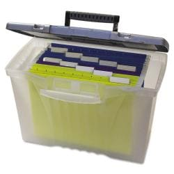 Storex Portable File with Organizer Lid 7550954