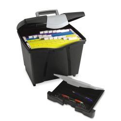 Storex Black Portable File with Drawer 7550955