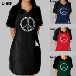 Los Angeles Pop Art Peace in 77 languages Kitchen Apron