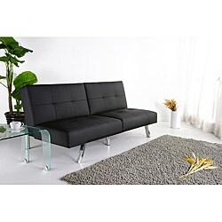 Jacksonville Black Foldable Futon Sofa Bed