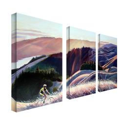 Coleen Proppe 'Sunset Cyclist' 3-panel Art Set