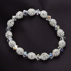 Crystale Created Stone Beaded Stretch Bracelet