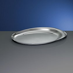 Yamazaki 18.25-inch Stainless Steel Oval Serving Tray