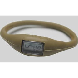 TRU: Metallic Gold Silicone Band Sports Watch