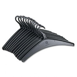 Quartet Heavy-Duty Black Molded Plastic Hangers