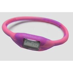 TRU: Purple/ Pink Silicone Band Sports Watch
