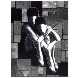 Garner Lewis 'Soul Mates' Canvas Art