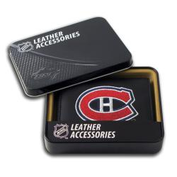 Montreal Canadiens Men's Black Leather Tri-fold Wallet