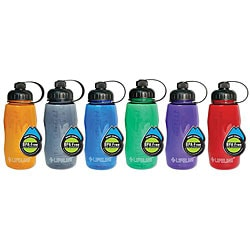 BPA-free 26-oz Assorted Colors with Smart Cap Plastic Water Bottle (Pack of 12)