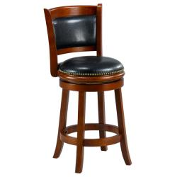 Alexis Cherry Padded Back Counter Stool