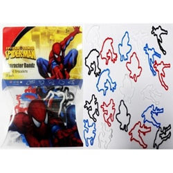 Character Bandz 'Marvel: Spider-Man' Characters Shaped Silicone Kids Bracelets (2 packs). 7582887