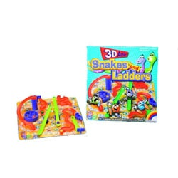 Intex Games 3D Action Snakes and Ladders Traditional Board Game