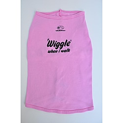 Ruff Ruff and Meow 'Wiggle When I Walk' Dog Tank Top