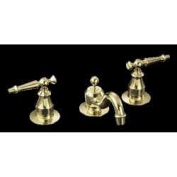 Kohler K-108-4-PB Vibrant Polished Brass Antique Widespread Lavatory Faucet With Lever Handles