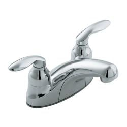 Kohler K-15240-4-CP Polished Chrome Coralais Centerset Lavatory Faucet With Lift-Rod Hole And Lever Handles