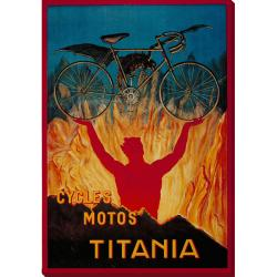 'Cycles Motos Titania' Oversized Gallery-wrapped Canvas Art