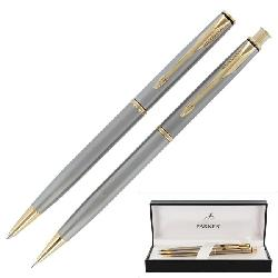 Parker Insignia Stainless Steel GT Ball Point Pen and Pencil Set
