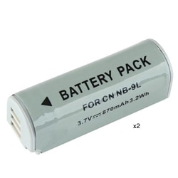 INSTEN Compatible Li-ion Battery for Canon NB-9L (Pack of 2)
