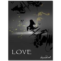 Miguel Paredes 'Love in Grey' Canvas Art