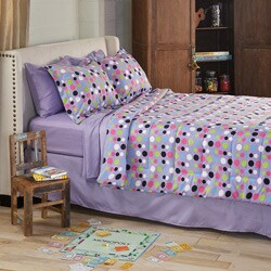 Dot Twin XL-size 6-piece Bed in a Bag with Sheet Set
