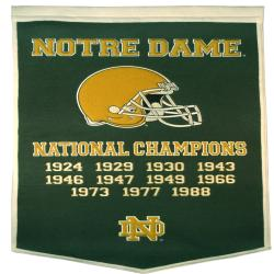 Notre Dame Fighting Irish NCAA Dynasty Banner 7624462