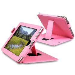 INSTEN Pink Leather Tablet Case Cover for Apple iPad