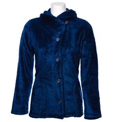 Women's Medium Blue Koala Shawl Collar Jacket