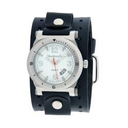 Nemesis Men's Silvertone DateTracker Leather Strap Watch