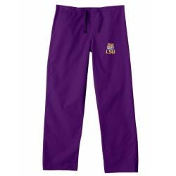Gelscrub Unisex Purple LSU Tiger Scrub Pants