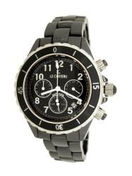 Le Chateau Persida LC Unisex All Black Ceramic Chrongraph Watch
