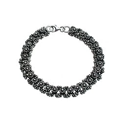Sterling Silver 'Daisy Chain' Link Bracelet (Indonesia)