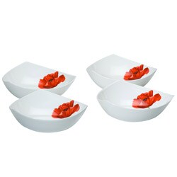 Red Vanilla 'Summer Sun' Set of 4 Soup Bowls 7655545